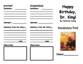 Happy Birthday, Dr. King! Foldable