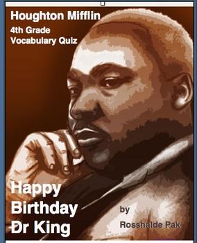 Happy Birthday Dr. King - Vocabulary Quiz