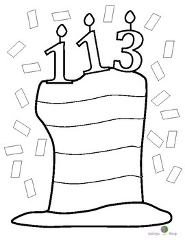 Dr. Seuss Week Inspired Birthday 2017 Coloring Activity