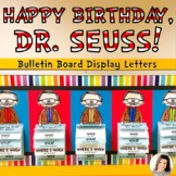 Happy Birthday, Dr. Seuss! Bulletin Board Display Letters Red White Stripe