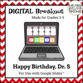 Digital Breakout Escape Room - Happy Birthday, Dr. Seuss