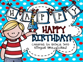 Happy Birthday Dr! nouns verbs, ABC, writing; add subtract