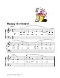 Happy Birthday Easy Piano