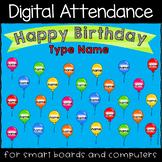 Happy Birthday Fun Digital Attendance PowerPoint Presentation