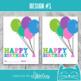 Happy Birthday Gift | Birthday Candy Gram | Class Treat