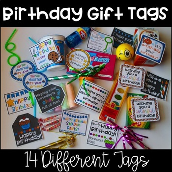 Happy Birthday Gift Tags {14 Options}