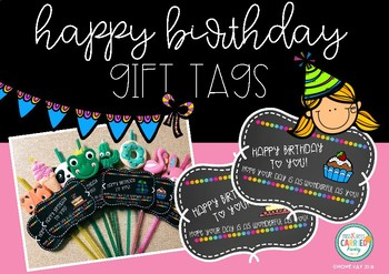 Happy Birthday Gift Tags - FREEBIE