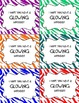 Happy Birthday Glow Stick Cards--Bright Colors, Editable!