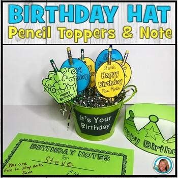 Happy Birthday Hat | Editable Pencil Toppers | Certificate ...
