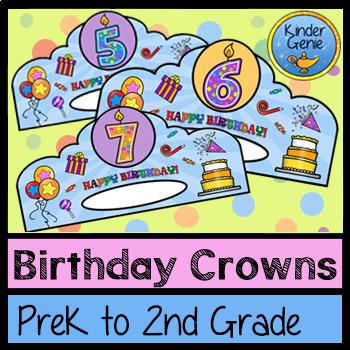 Happy Birthday Hats / Crowns - PreK to 2nd Grade