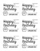 Happy Birthday Homework Pass