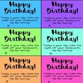 Happy Birthday Homework Passes - COLOUR