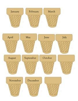Happy Birthday Ice Cream Cones