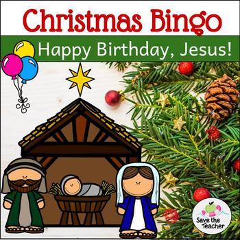 happy birthday jesus christmas bingo freebie