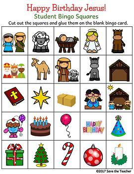Happy Birthday, Jesus! Christmas Bingo FREEBIE
