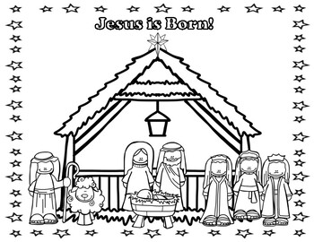 Happy Birthday Jesus Coloring Pages! by Miss P's PreK Pups ...