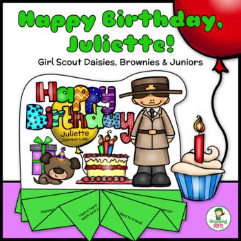 Happy Birthday, Juliette! - Girl Scout Daisies, Brownies & Juniors