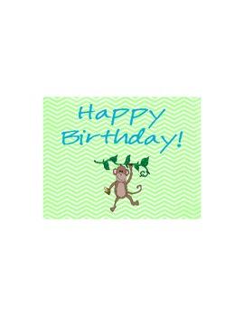 Happy Birthday Jungle Postcard