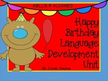 Happy Birthday Language Development Unit