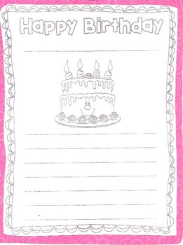 Happy Birthday Letter
