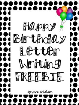 Happy Birthday Letter Writing Paper FREEBIE