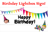 Happy Birthday Light Box Sign - Dual Language