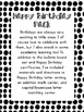 Birthday Bulletin Board, Writing Paper, Games, and More