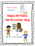 Happy Birthday, Martin Luther King by Jean Marzollo- A Complete Response Journal