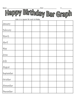 Happy Birthday Math Graphing Activity for the first week of school