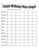 Happy Birthday Math Graphing Activity for the first week o