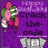 Happy Birthday Math & Literacy Packet - Print & Practice