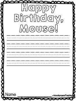 Happy Birthday, Mouse! {Craftivity}
