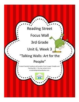 Talking Walls Focus Wall Posters Reading Street Grade 3, CC 2013