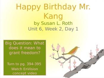 Happy Birthday Mr. Kang PowerPoint Reading Street 3.6.2