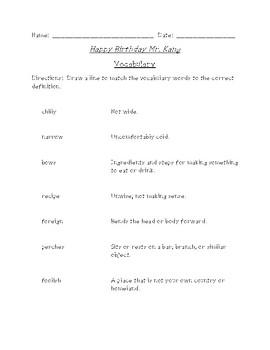 Happy Birthday Mr. Kang Reading/Spelling Bundle (Scott Foresman Reading Street)