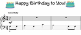 Happy Birthday Music Sheet - Level 1