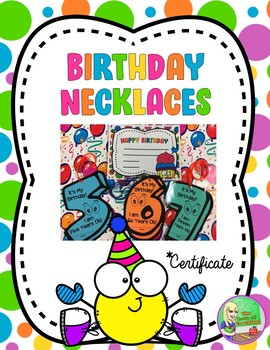 Happy Birthday Necklaces & Certificate
