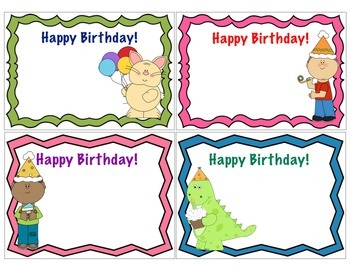 Happy Birthday Notecards