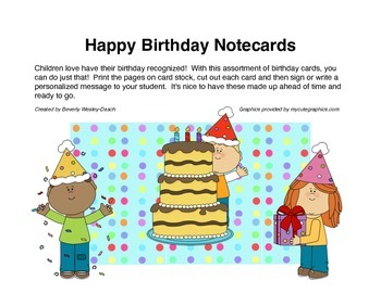 Happy Birthday Notecards