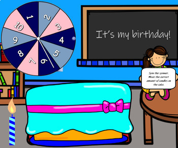 Happy Birthday Numbers 1-10 SMART Notebook
