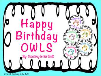 Happy Birthday Owl Tags