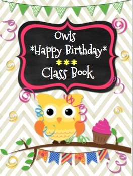 Happy Birthday *Owls* Class Book