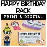 Happy Birthday Pack (Print and Digital)