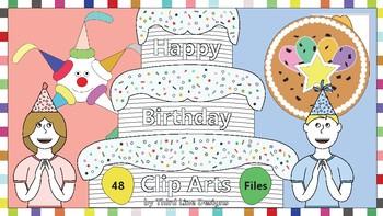 Happy Birthday Clip Arts