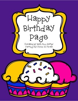 Happy Birthday Page