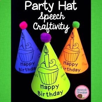 Happy Birthday Party Hat Craft For Speech Therapy By Dreams