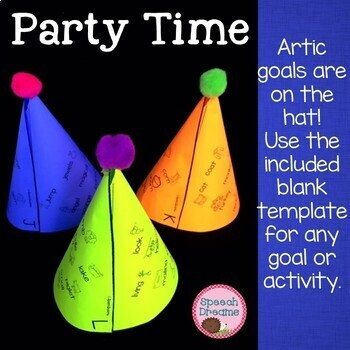 Happy Birthday Party Hat Craftivity for Speech Therapy