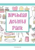 Happy Birthday Party - Kindergarten and Preschool Activities