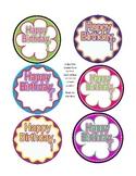 Happy Birthday Pencil Badges for Birthday Pencil Bouquet