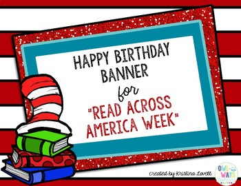 Happy Birthday Pennant Banner for Read Across America
